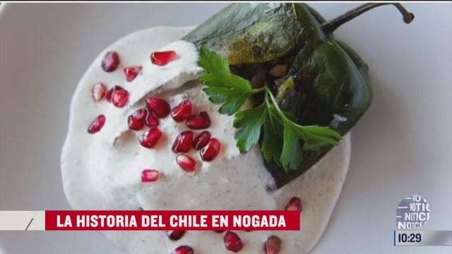 el origen del chile en nogada