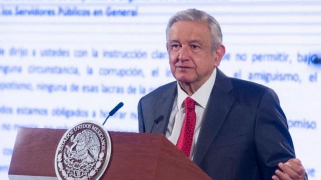 El presidente López Obrador en conferencia matutina