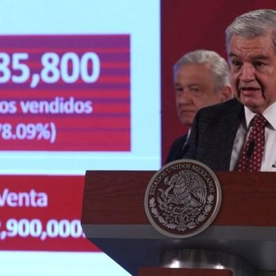 Se vendió el 78.09 % de los 'cachitos' para rifa del avión presidencial, informa Lotería Nacional