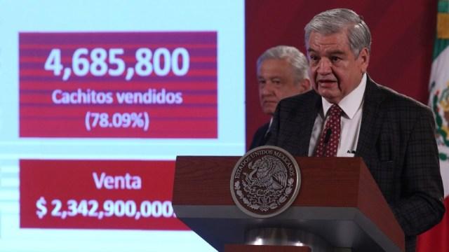 Ernesto Prieto Ortega en conferencia de AMLO
