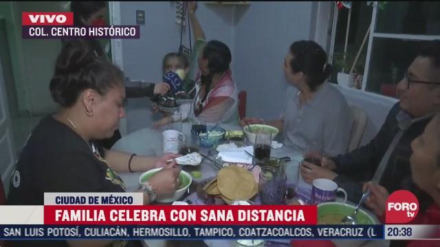 familia celebra con sana distancia independencia de mexico