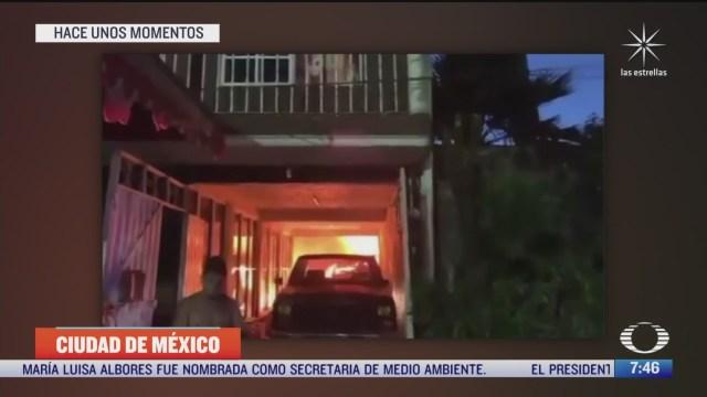 flamazo por explosion de gas deja dos heridos en la cdmx