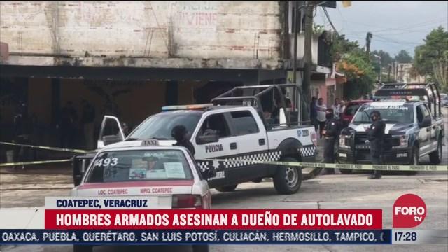 hombres armados matan al dueno de un autolavado en veracruz
