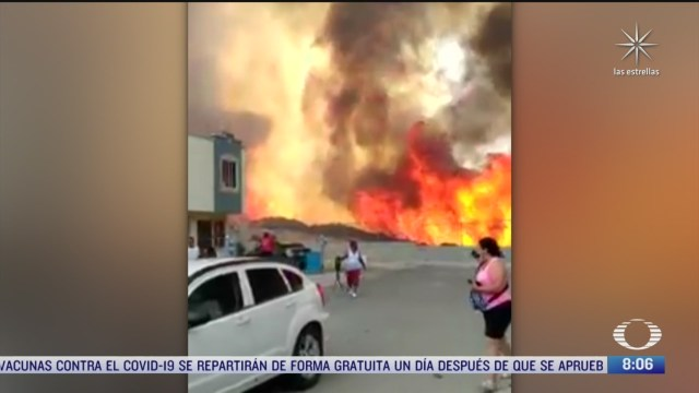 impactante incendio de pastizales causa alarma en tijuana