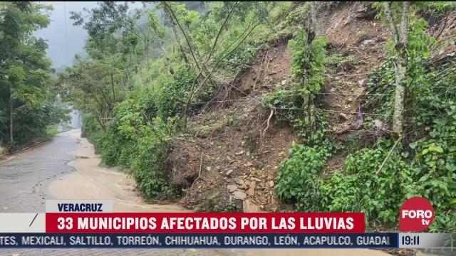 lluvia e inundacion afecta 33 municipios en veracruz