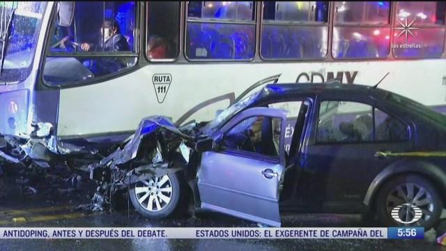 lluvia ocasiona accidentes en la carretera mexico cuernavaca