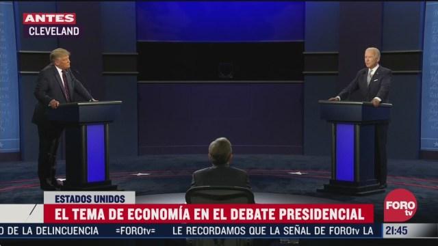 los mejores momentos del debate presidencial de eeuu entre biden y trump