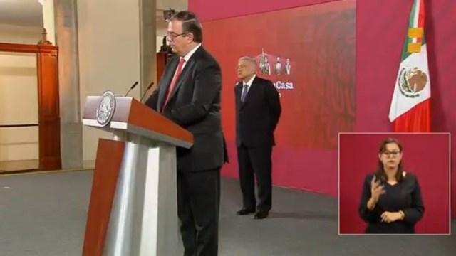 Marcelo Ebrard en conferencia de prensa de AMLO