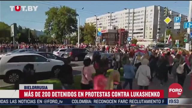 mas de 200 personas detenidas en bielorrusia por protestas