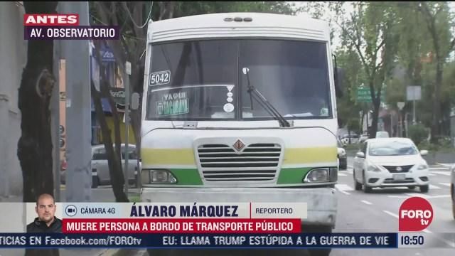 muere pasajero a bordo de transporte publico en cdmx