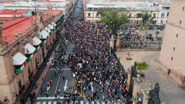 Mujeres protestan por muerte de Jessica en Morelia; reportan vandalismo
