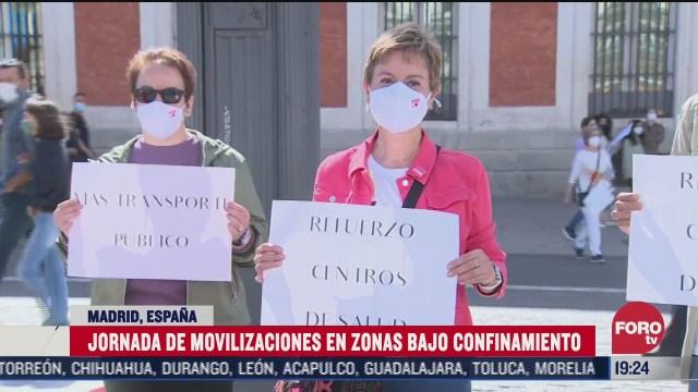 nueva jornada de protestas en espana contra confinamiento por el covid