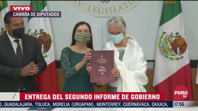olga sanchez cordero entrega informe de gobierno de amlo
