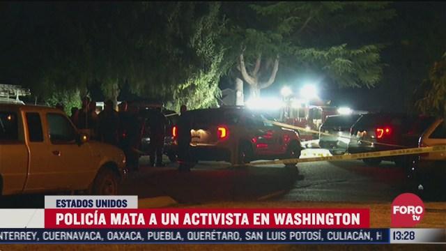 policia de washington abate a presunto homicida de manifestante