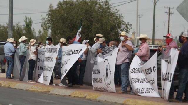 Protestas en Chihuahua por el agua en la Presa Boquilla