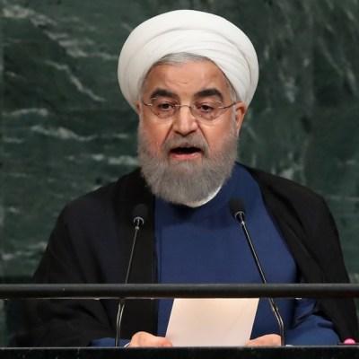 Hassan Rouhani, presidente de la República Islámica de Irán, durante la Asamblea General de las Naciones Unidas.