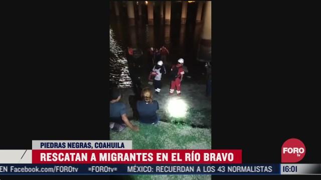 rescatan a dos migrantes en el rio bravo