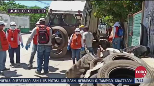 retiran mas de 5 toneladas de cacharros en acapulco para evitar dengue