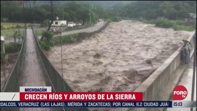 rios de michoacan a punto del desborde