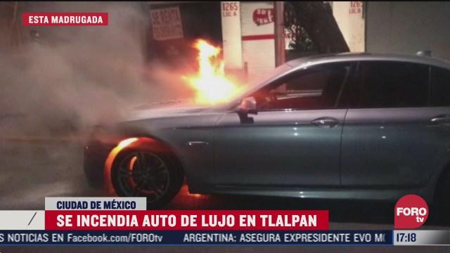 se incendia vehiculo de lujo en tlalpan