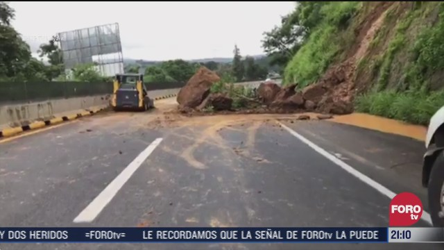 se registra deslave en carretera mazatlan tepic