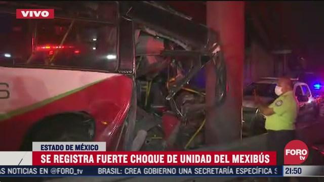 Choque de Mexibus hoy en la carretera México - Pachuca