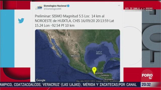 sismo en Huixtla chiapas