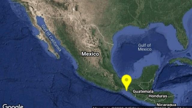 Se registra sismo en Arriaga, Chiapas