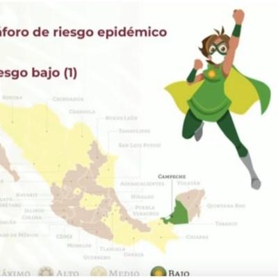 Nuevo semáforo COVID-19: Campeche es el primer estado en verde; 15 en naranja y 16 en amarillo