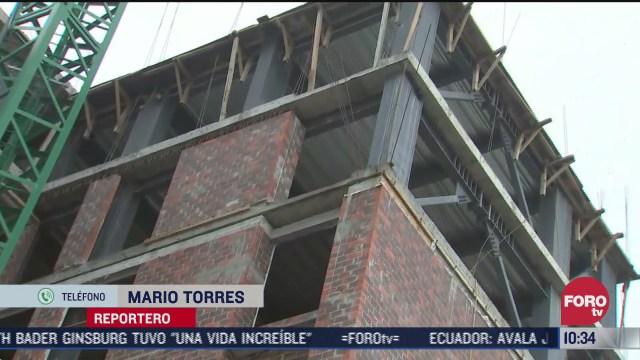 sheinbaum recorre obras de remodelacion de edificios afectados por sismo 19s