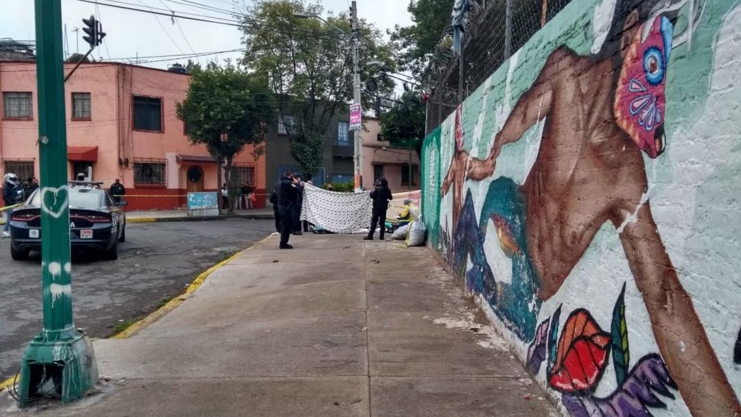 Elemento de la Secretaría de Seguridad Ciudadana llegaron al lugar tras el recporte de un recolector de PET