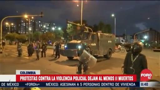sube a 11 el numero de muertos tras protestas en colombia