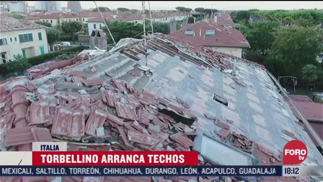torbellino arranca techos en italia