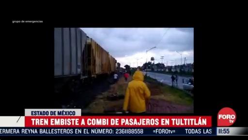 tren embiste a combi en tultitlan estado de mexico