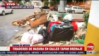 vecinos denuncian tiradero de basura en calles de cdmx