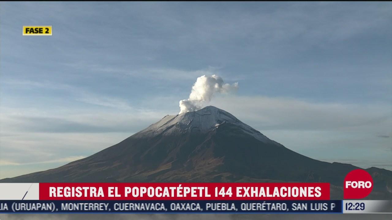 volcan popocatepetl se mantiene en amarillo fase