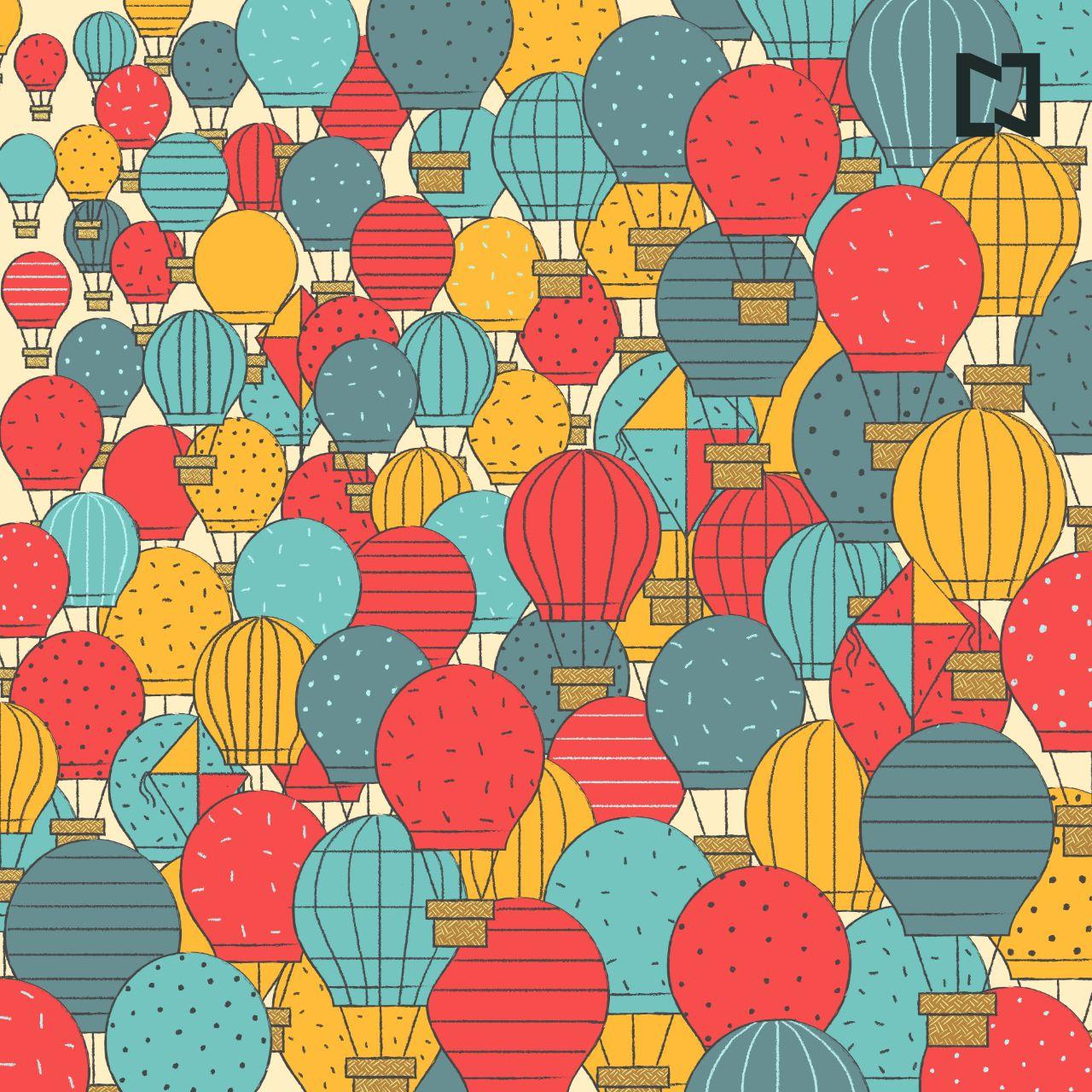 Reto visual: Encuentra los cuatro papalote escondidos entre los globos aerostáticos