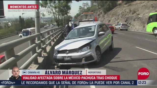 accidente en la mexico pachuca afecta transito vehicular