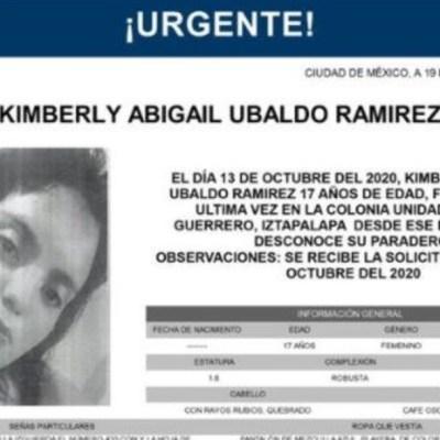 Activan Alerta Amber para localizar a Kimberly Abigail Ubaldo Ramírez