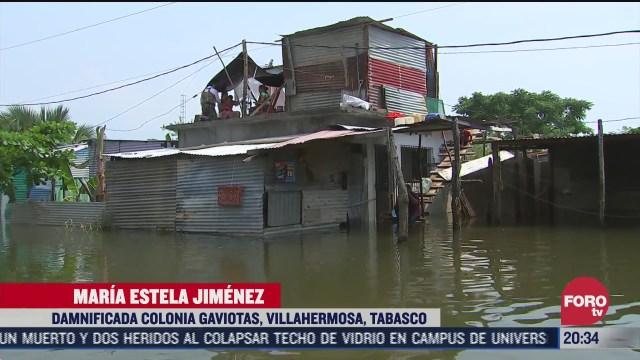 al menos 500 viviendas se inundaron por lluvias en tabasco