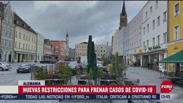 alemania establece nuevas restricciones para frenar casos de covid
