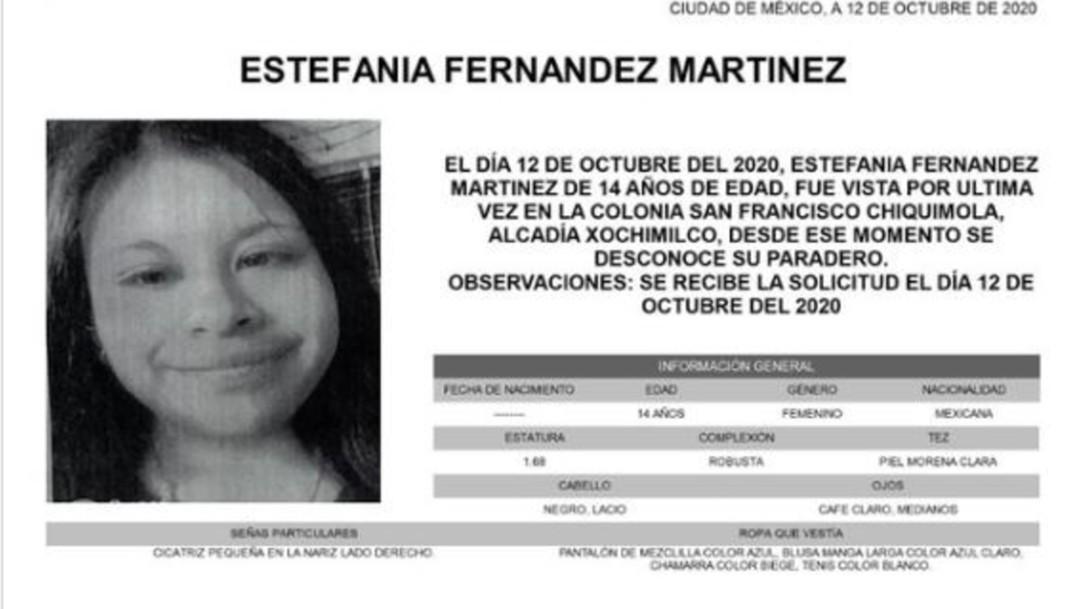 Alerta Amber Estefania Fernández Martínez
