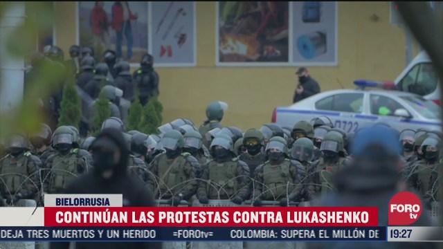 amenazan con huelga nacional contra lukashenko en bielorrusia