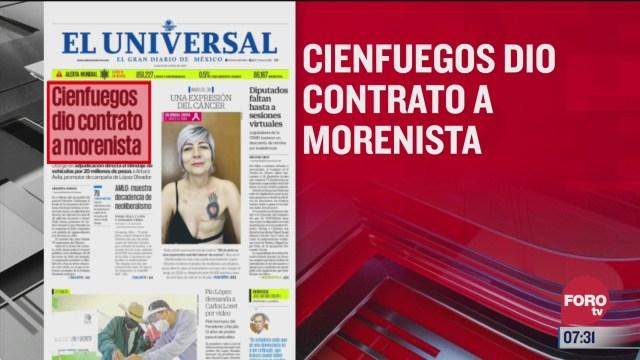 analisis de las portadas nacionales e internacionales del 19 de octubre del