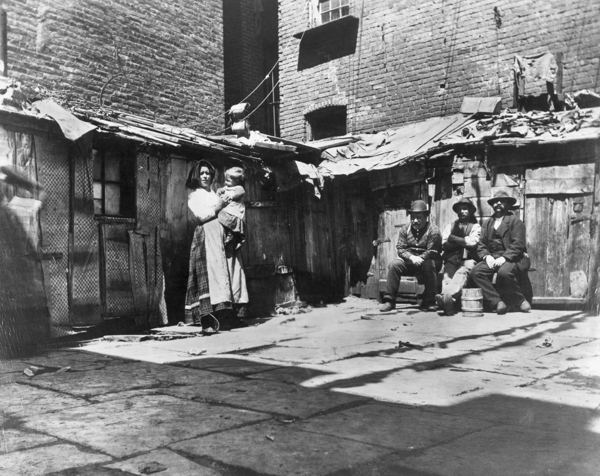 Imagen de Tenements en el Nueva York del siglo XIX