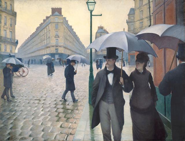Pintura de Gustave Caillebotte, Jour de pluie à Paris