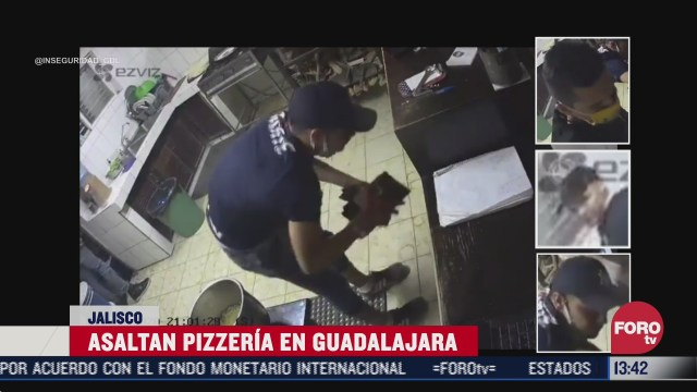 asaltan pizzeria en guadalajara y hasta la calculadora se llevaron