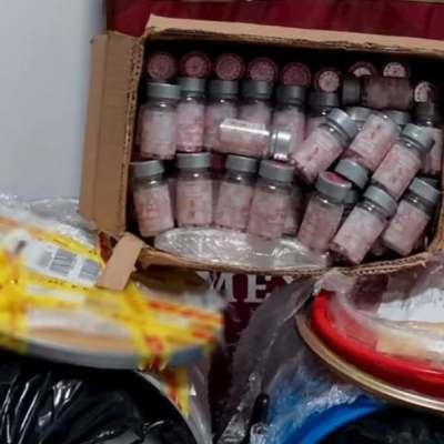 Aseguran precursor químico y medicamento controlado en Aeropuerto de La Paz