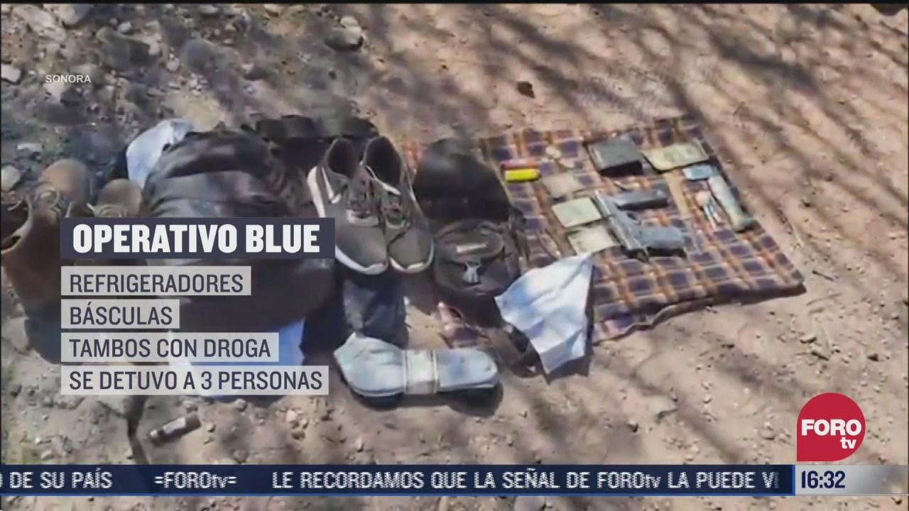 asegurar laboratorios clandestinos bajo operativo blue