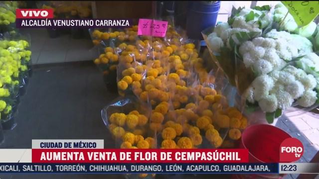 aumenta venta de flores de cempasuchil